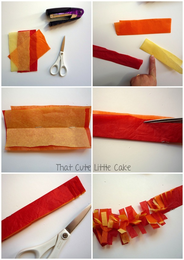 100% topkwaliteit high fashion hoogwaardige sportkleding That Cute Little Cake: {Craft} How to make tissue paper fire