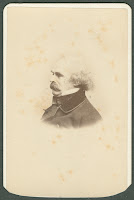 A photograph of Nathaniel Hawthorne.
