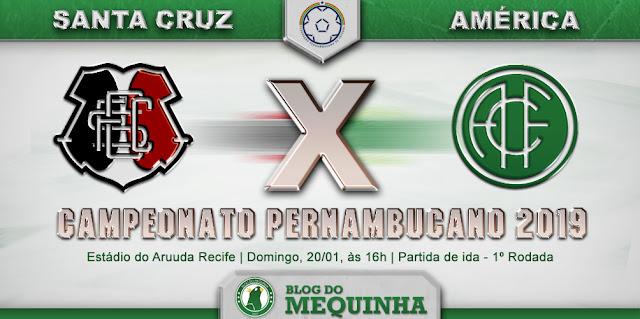 América estreia contra o Santa Cruz no Pernambucano 2019