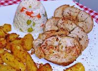 Χοιρινό ρολό γεμιστό με πατάτες στο φούρνο - by https://syntages-faghtwn.blogspot.gr