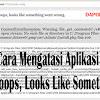 Cara Mengatasi Aplikasi PMP 2018. 05 Whoops, Looks Like Something Went Wrong