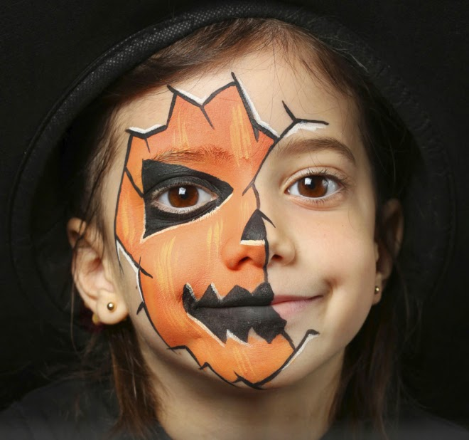 Natural Halloween Decorations: All Natural Face Painting: Skeleton Face Paint And More