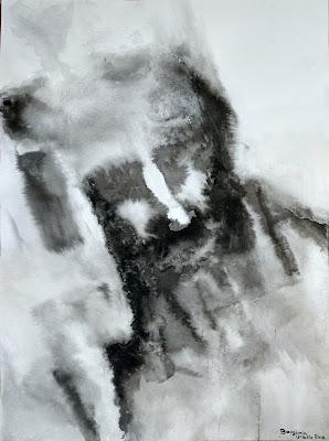 retrato tinta china Benjamin Vilella alberto