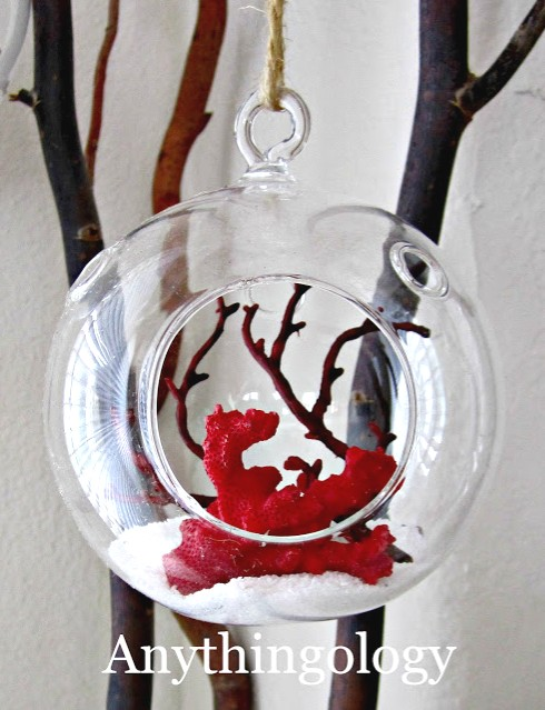 Decorative Hanging Glass Globes with a Coastal Theme