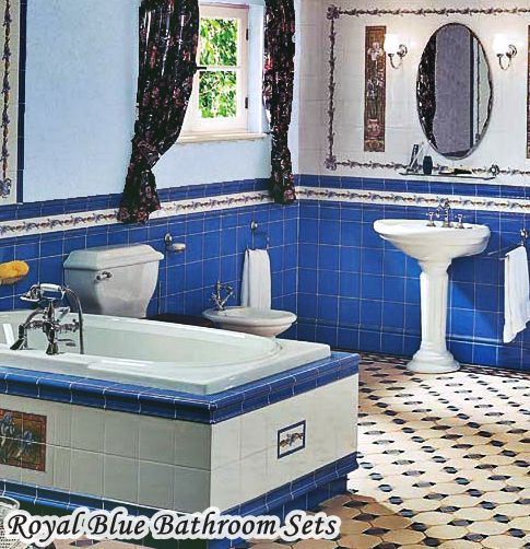 Royal Blue Bathroom Sets