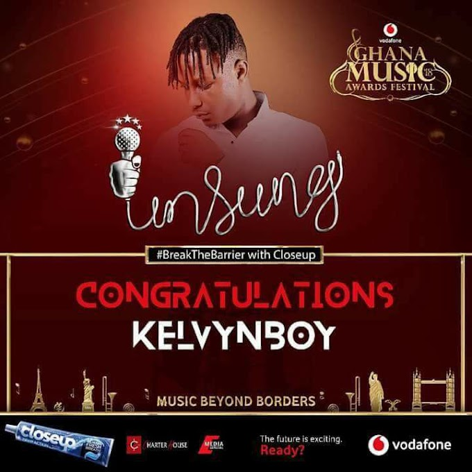 """Kelvynboy wins """"Unsung"""" category at this year's Ghana Music Awards (2018VGMA)"""