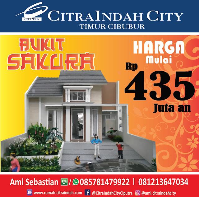 Bukit SAKURA (Real Estate)  Citra Indah City mulai dipasarkan - Harga Mulai 435 Jtan