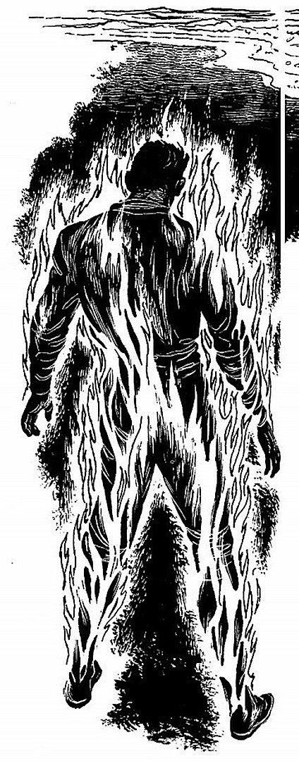 Ed Emshwiller illustration of man on fire