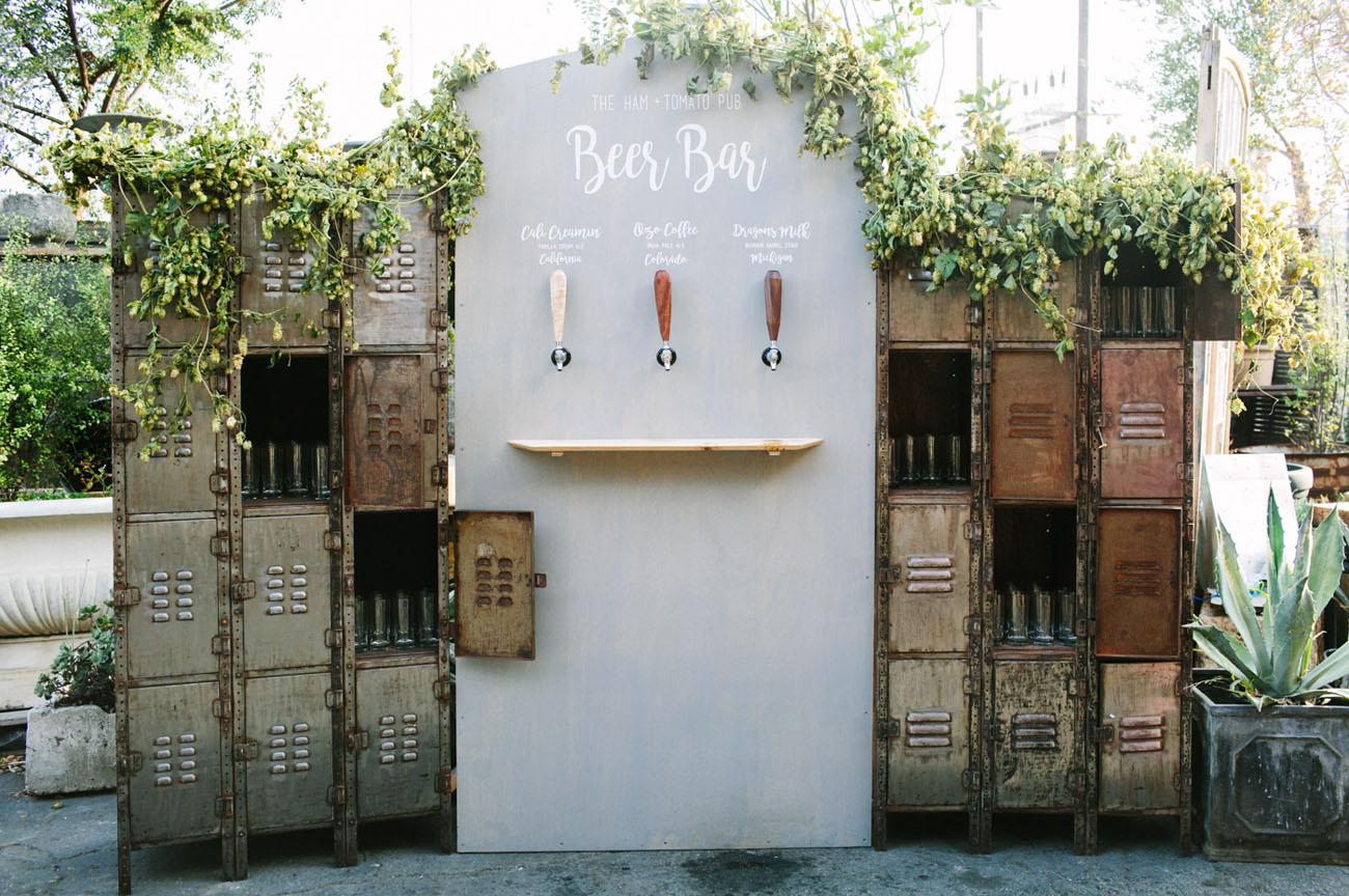Unique Wedding Beer Bar