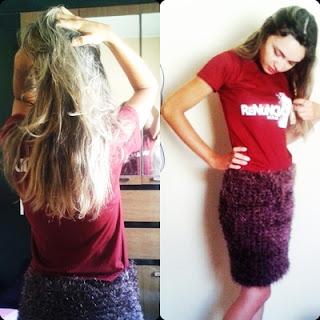 Look do dia, moda, beleza, Lookoftheday, Resenha, saia de crochê e t- shirt,