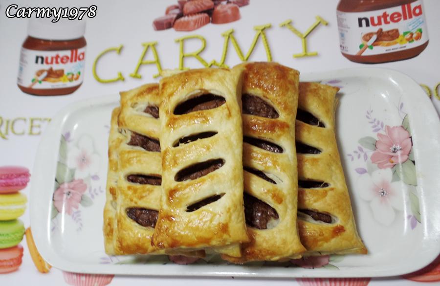 Sfogliatine con nutella video tutorial carmy in for Ricette facili di cucina