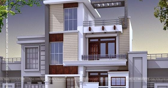 Modern 3 Bedroom House In India Kerala Home Design And