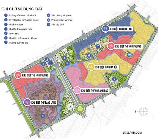 Quy hoạch Vinhomes Riverside giai đoan 1