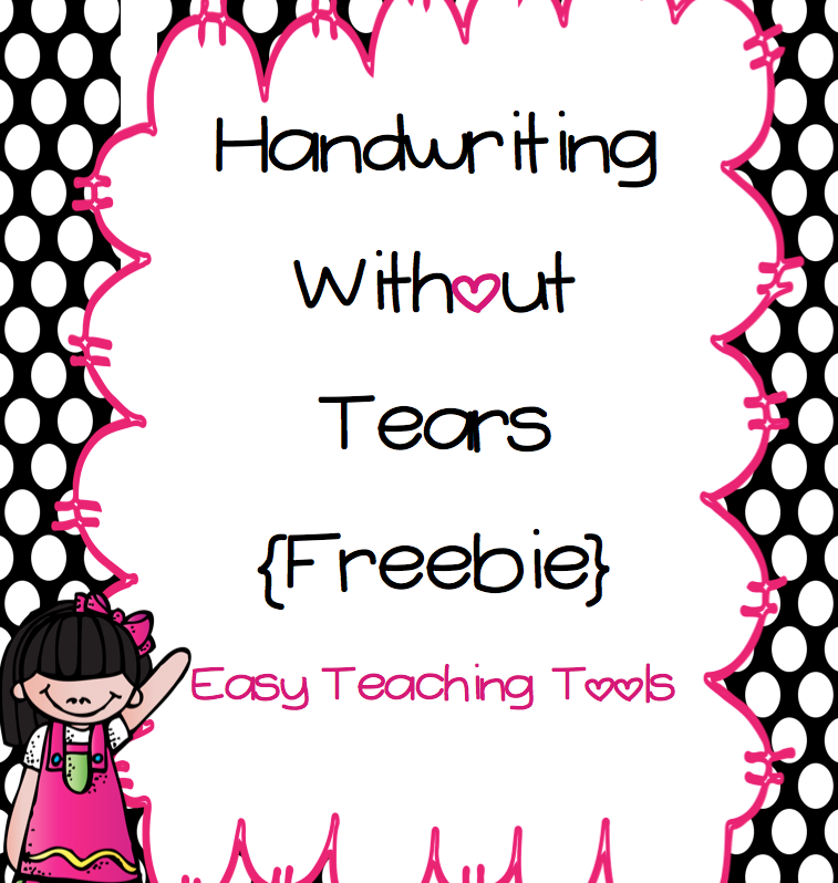 This is an image of Handwriting Without Tears Printable in template