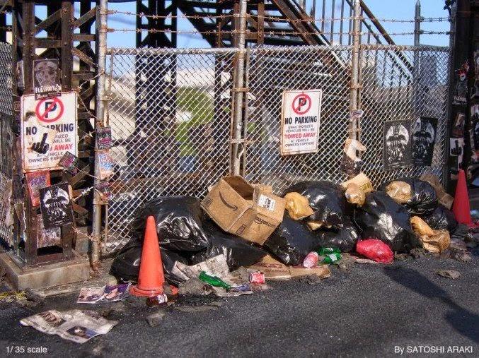 desorden en el basurero