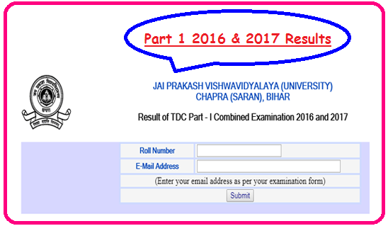 Result of TDC Part 1 Combined 2016 and 2017