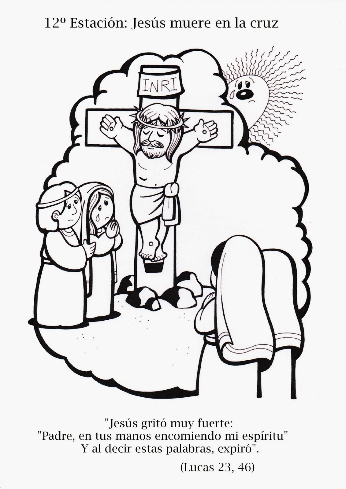 Blog del Profesorado de Religión Católica: Vía Crucis para colorear ...