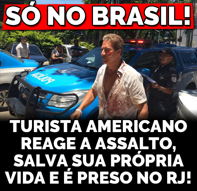 Turista consegue imobilizar assaltante no Rio e acaba preso