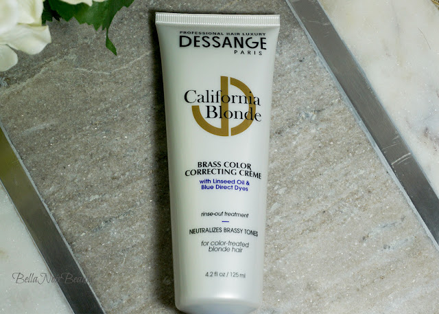 Dessange California Blonde Brass Color Correcting Creme: Before and After | bellanoirbeauty.com