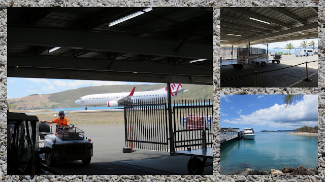 Sailing in the Whitsundays - Views from Hamilton Island Airport Baggage Claim