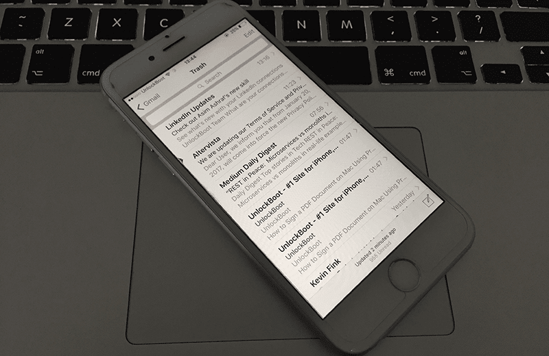 restore deleted email on iphone