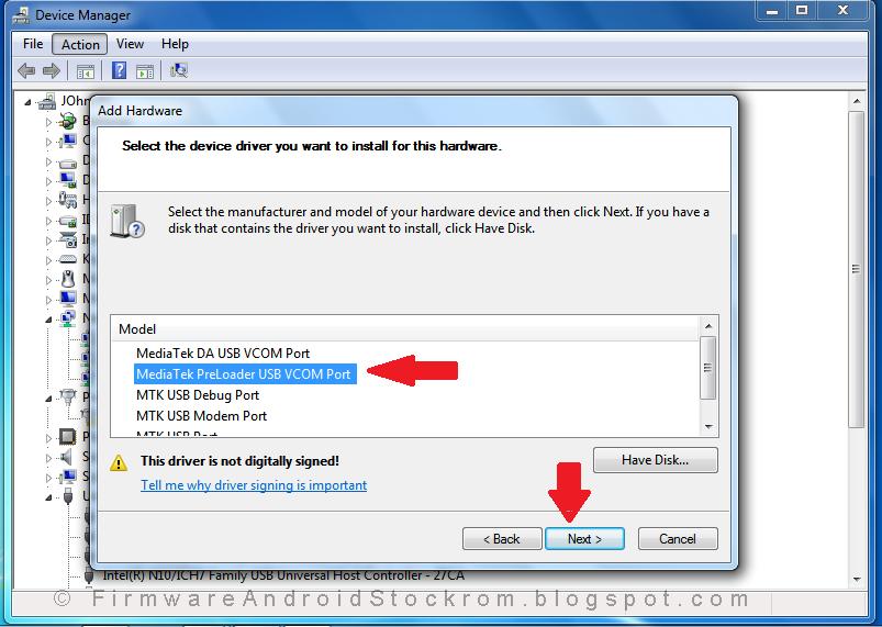 MediaTek DA USB VCOM (Android) XP