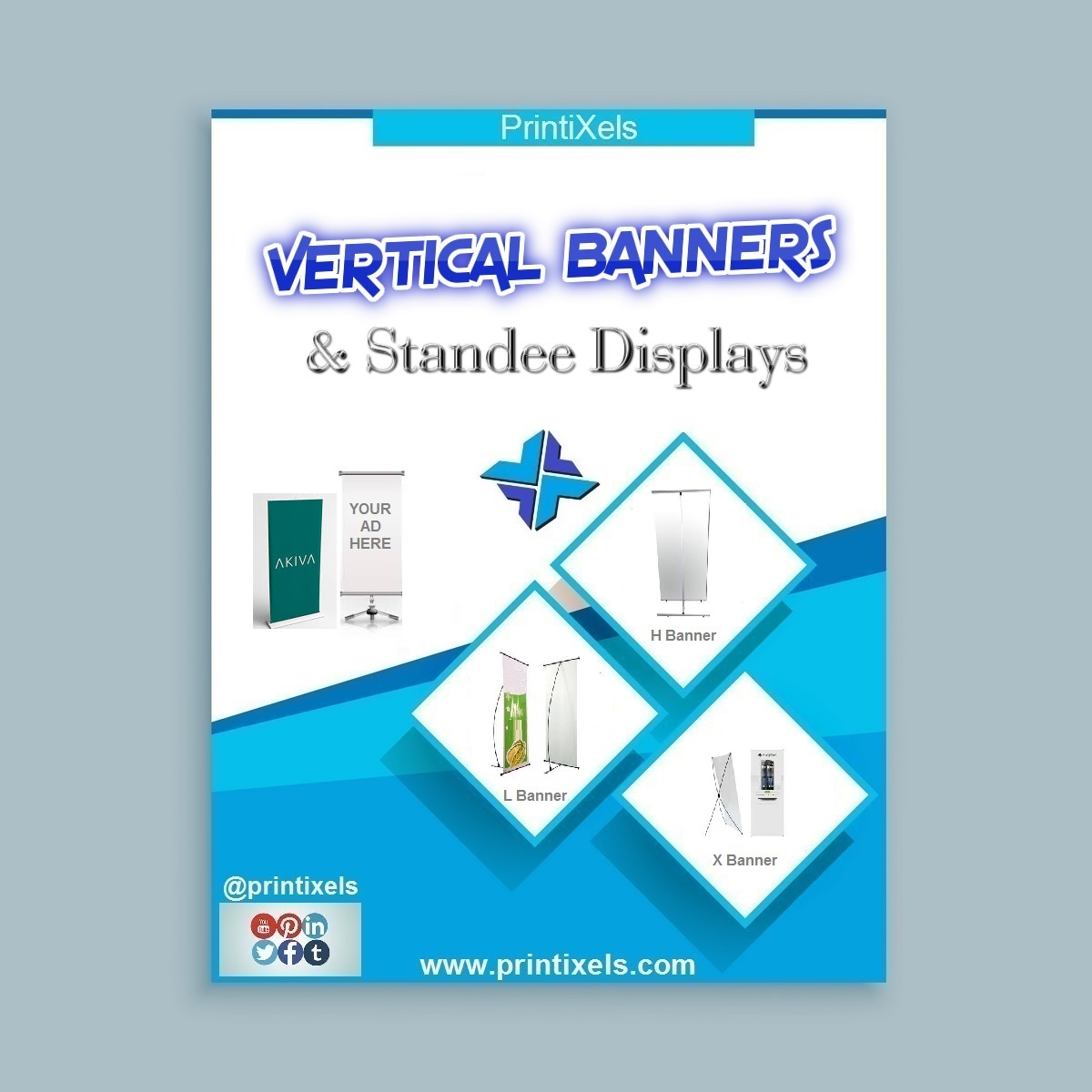 Vertical Banners and Roll Up Standee Displays