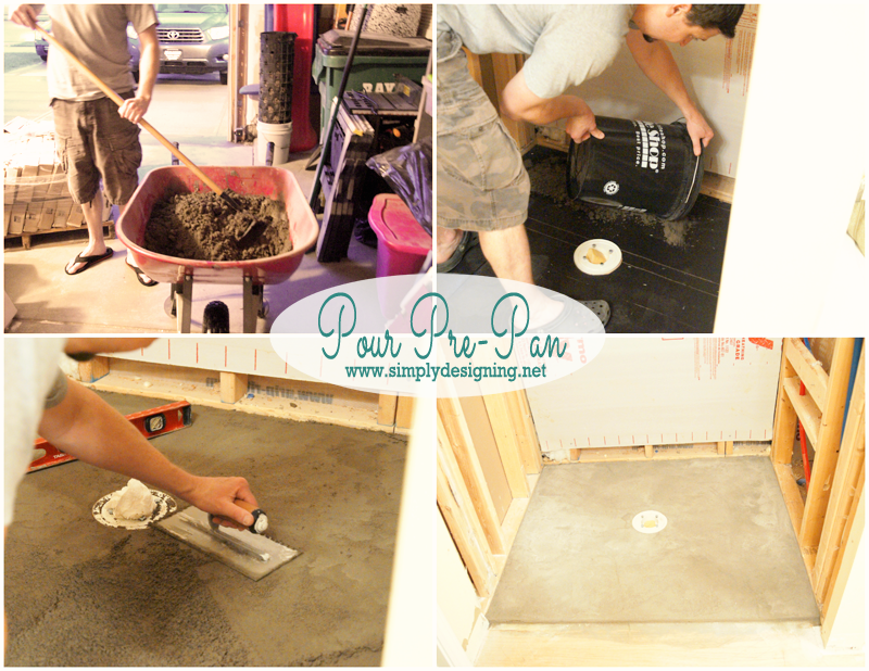 pour a prepan shower pan how to create your own shower pan