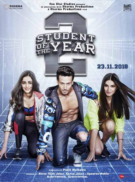 full cast and crew of Bollywood movie Student Of The Year 2 2018 wiki, Tiger Shroff, Jhanvi Kapoor Student Of The Year 2 story, release date, Student Of The Year 2 wikipedia Actress name poster, trailer, Video, News, Photos, Wallpaper