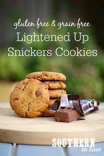 Healthier Gluten Free Snickers Cookie Recipe
