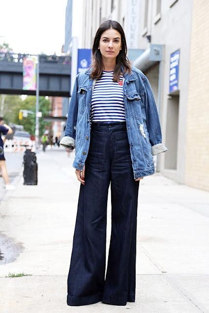 giacca di jeans outfit giacca jeans come abbinare il giacca  di jeans tendenze autunno 2016 fashion moda fashion blog italiani street style mariafelicia magno colorblock by felym