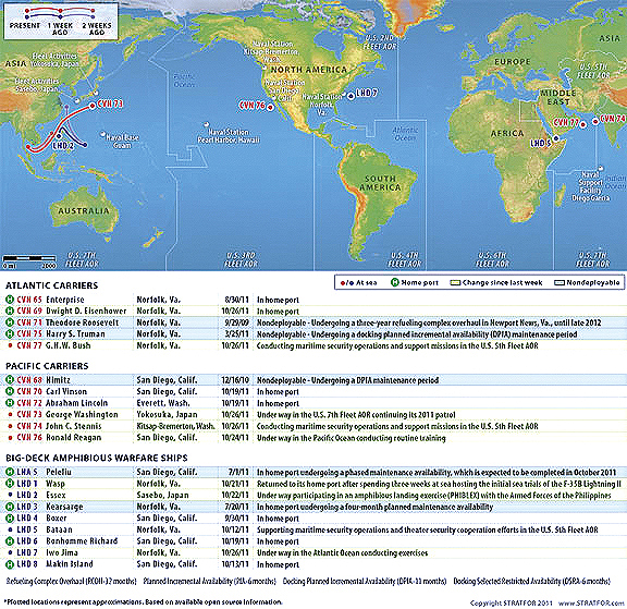 STRATFOR U.S. Naval Update Map: Oct. 26, 2011 ~ THE 5TH ESTATE ASIA