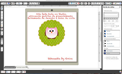 Essa é a arte que fiz no Software da Silhouette 2eb5c414aa