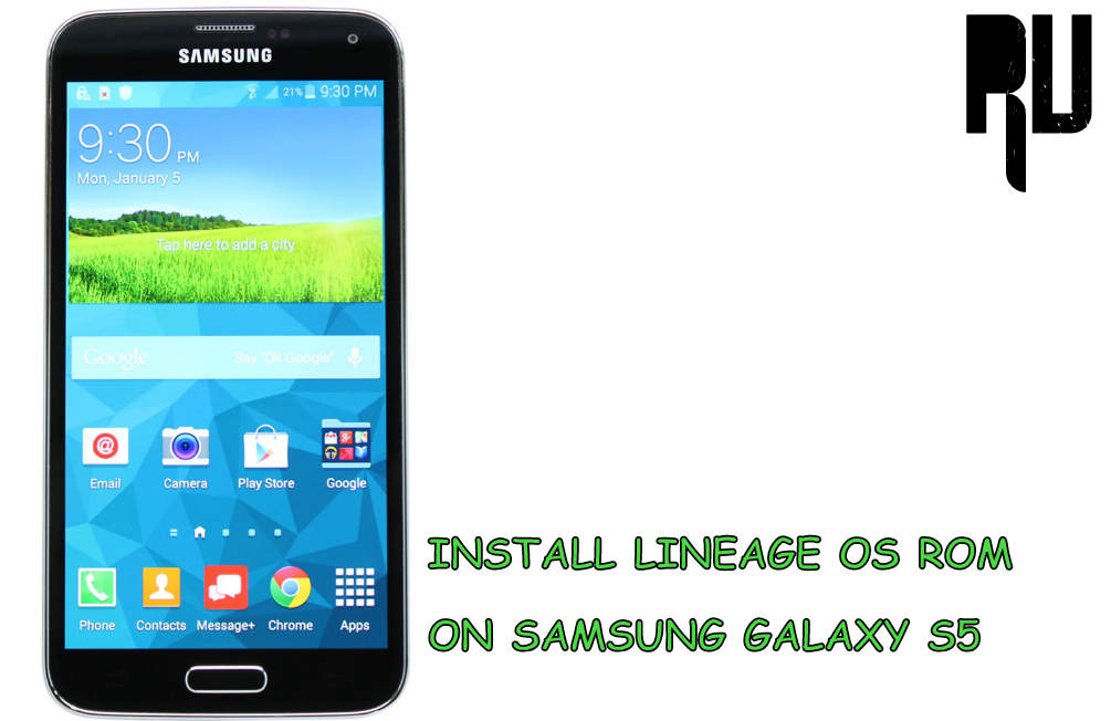 Download and Install Lineage os rom in Galaxy S5