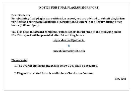 project report on plagiarism Project report under the university regulations for graduate degree and diplomas, and where the examiners are satisfied that level 1 plagiarism has been committed, ty shallhe levy a penalty for the level 1 plagiarism charged in the.