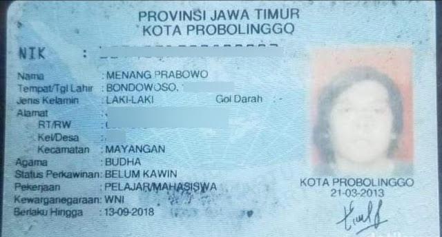 Pria di Probolinggo Ini Mempunyai Nama 'Menang Prabowo'