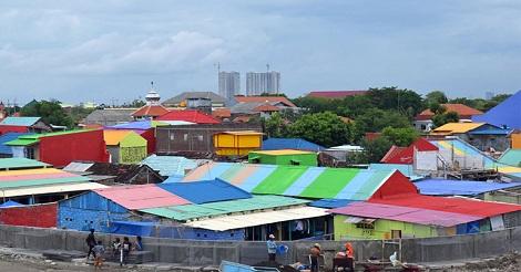 Kampung Warna Warni Bulak Surabaya