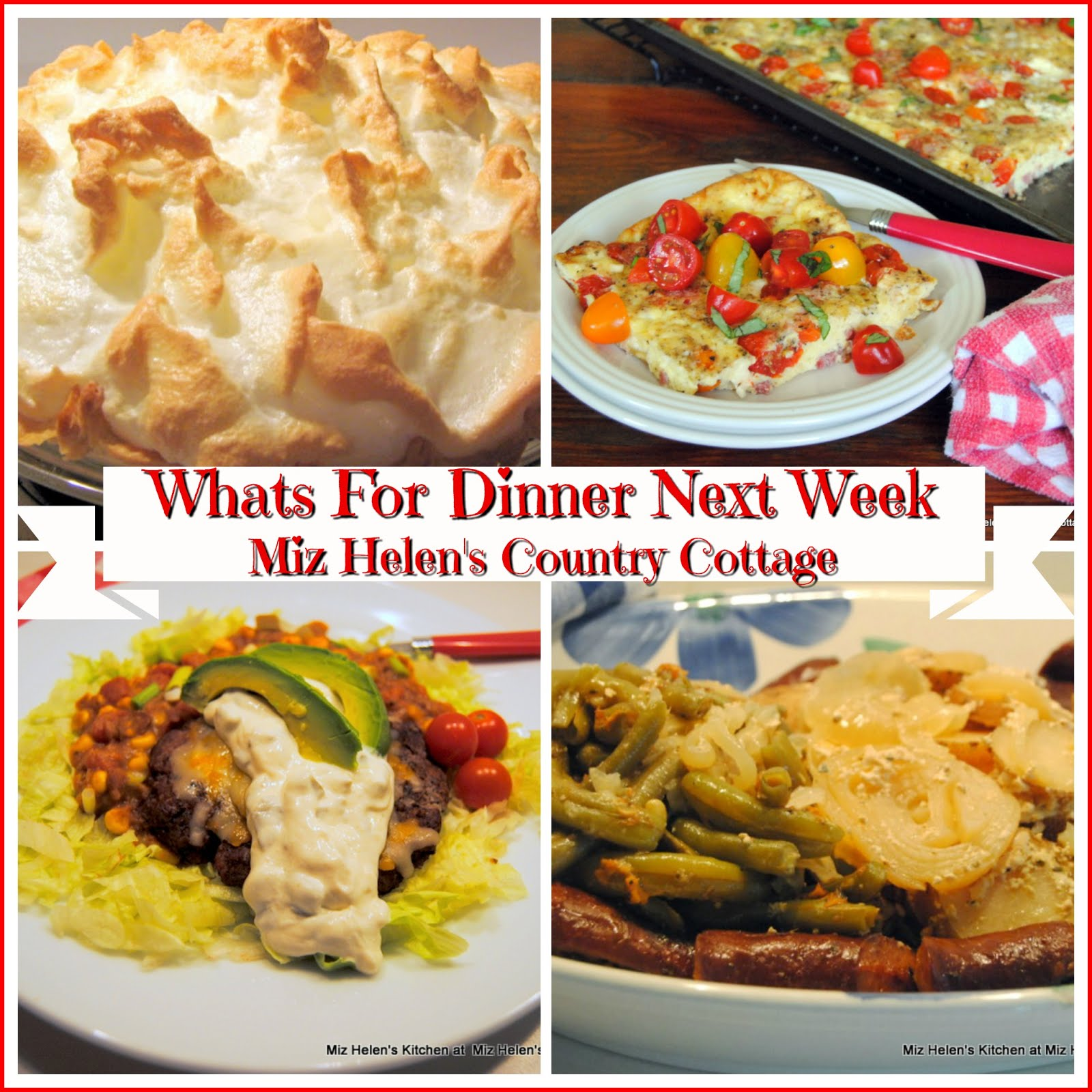 Whats For Dinner Next Week * Week of 3-24-19