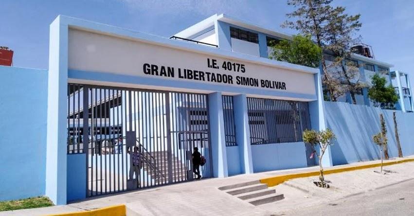PRONIED: Entregan remodeladas instalaciones de la IE Gran Libertador Simón Bolívar en Arequipa - www.pronied.gob.pe
