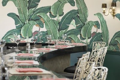 The Beverly Hills Hotel Fountain Coffee Room Actually Cant Remember When Or How I First Fell In Love With This Wallpaper But Do Know One Thing