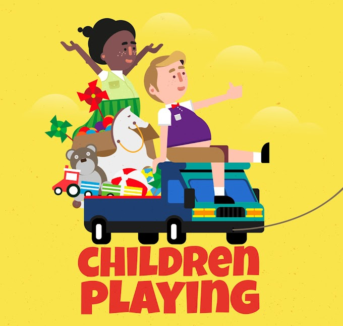 children playing on creative toy car free vector illustration