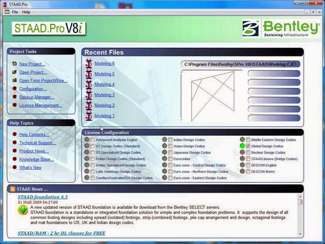 Bentley Staad Pro V8i free download