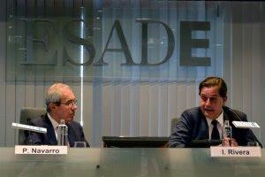 Pedro Navarro e Ignacio Rivera en ESADE Madrid. EFE/José Carlos Pedrouzo