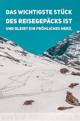 """""""Das wichtigste Stück des Reisegepäcks ist und bleibt ein fröhliches Herz."""", Hermann Löns"""