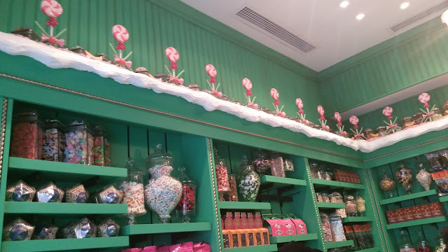 shelves of candy