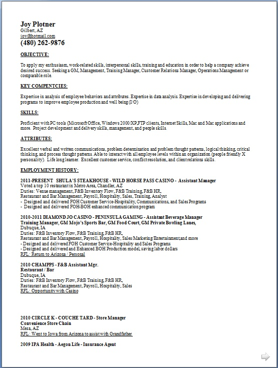 Training Manager Resume Samples in Word Format Free Download