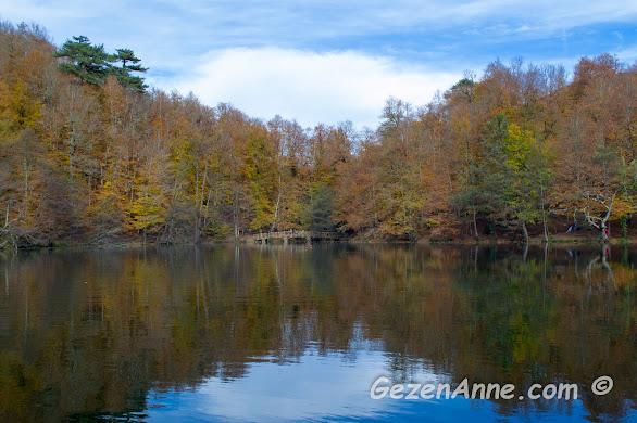Büyükgöl'de sonbahar manzarası, Yedigöller Milli Parkı Bolu