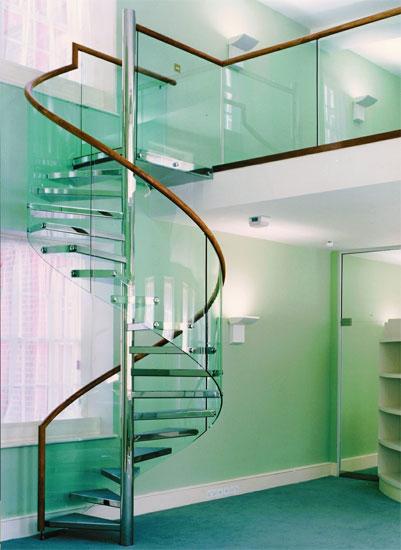 Modern homes glass steps designs ideas.