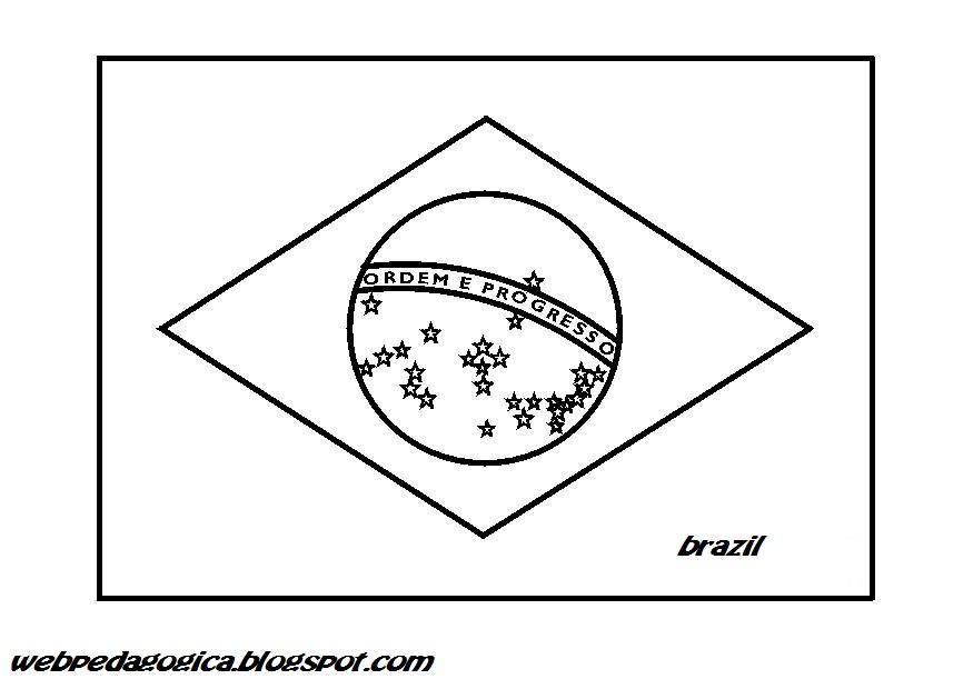 DESCUBRIR LAS BANDERAS COLOREANDO BRAZIL   WEB PEDAGÓGICA ...