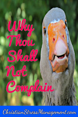 Why you shall not complain